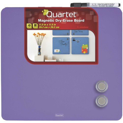 Quartet Magnetic Dry-Erase Boards, Tin Square, 11.5 x 11.5 Inches, Purple (TSQ1212-PRS)