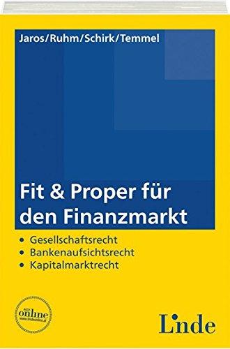 Fit And Proper Für Den Finanzmarkt