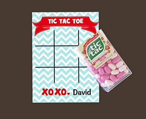 (Valentine's Day - Valentine Tic Tac Toe Card Blue (set of 12))