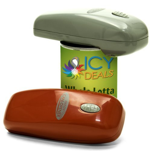 (Handy Can Opener Automatic One Touch Electric Can Opener - 2 Pack,  Assorted Color)