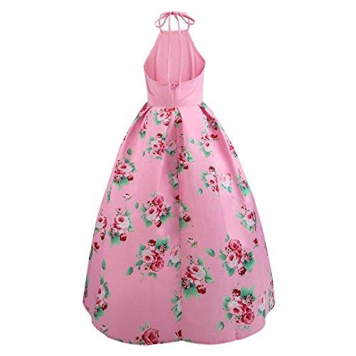 ... 50er Vintage Retro Kleid , ❤ Damen Party Club Kleider Vintage Ärmellos  Blumen ... 8ceb654e10