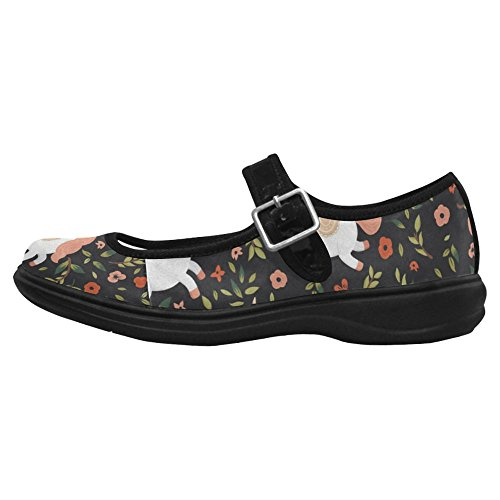 Interestprint Womens Comfort Mary Jane Flats Casual Walking Shoes Multi 7