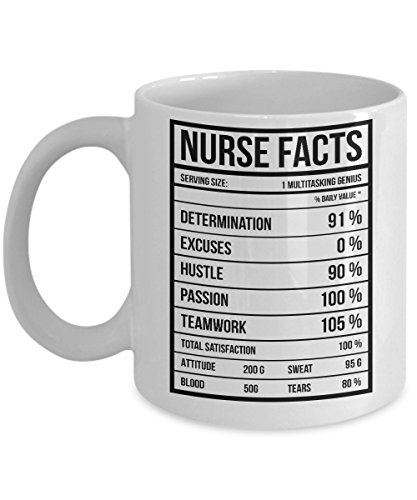 Funny Nurse Gift Nurse Facts 11oz Ceramic Coffee Mug - Perfect Birthday,Christmas Gifts Idea For Registered, Practitioner, Student, Nurses