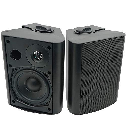 Herdio 5.25 Inches 200 Watt Indoor Outdoor Patio Bluetooth Speakers met Superieure Dome Tweeter ALLE Weer Bedrade Muur…