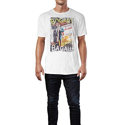 SINUS ART® Dark Passage Herren T-Shirts stilvolles weißes Fun Shirt mit tollen Aufdruck