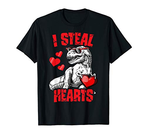 Kids Valentines Outfits (Boys Valentines Day Shirt Kids Dinosaur T rex I Steal)