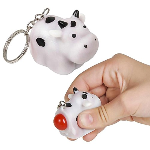 "Six 2"" Pooping Cow Key Chains (Lot of 6)"