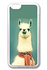 DDJK Case 6 plus Case, iPhone 6 plus Case - Best Protector with Customized Design for iPhone 6 Plus Fancy Lama Crystal Clear Soft Rubber Case for iPhone Plus 5.5 Inches