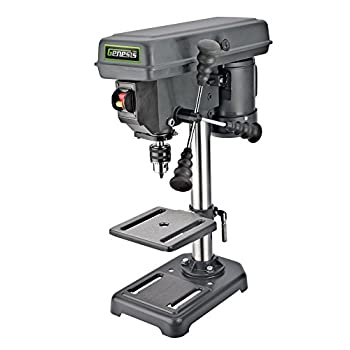 Image of Genesis GDP805P 5-Speed 2.6 Amp 8' Drill Press with 1/2' Chuck, Adjustable Depth Stop, Tilt Table, Chuck Key, and Allen Wrench