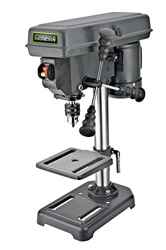 Genesis GDP805P 8 In. 5-Speed 2.6 Amp Drill Press with 1/2 In. Chuck & Tilt Table,