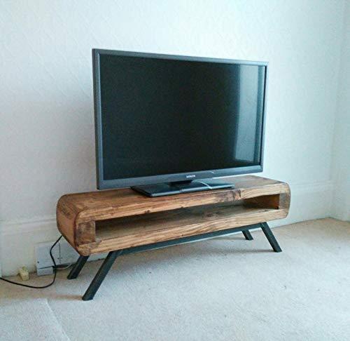Tv stand Narrow retro style rustic tv unit 90 cm: Amazon.es: Handmade