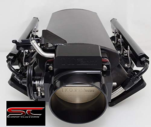 LS1 LS2 Black Low Profile Sheet metal Intake Manifold W/Rails and Throttle Body (Best Turbo For Stock Ls1)