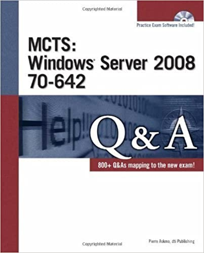 Book MCTS Windows Server 2008 70-642 Q&A 1st edition by dti Publishing (2009)