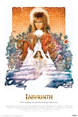 DAVID BOWIE - LABYRINTH MOVIE POSTER - Fantasy (Fantasy Movie Poster)