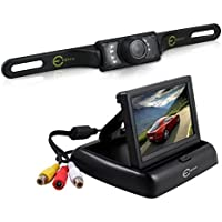 Esky EC170-20 4.3-Inch Rear View TFT-LCD Monitor with 135 Degree Waterproof Car Camera
