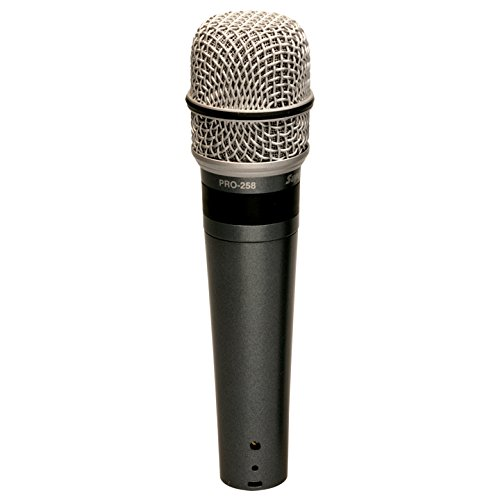 Superlux PRO 258 Dynamic Vocal Super Carioid Microphone, Black