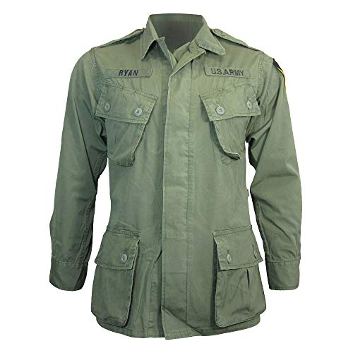 US Olive Green Tropical/Jungle Jacket - Vietnam Era (XL )