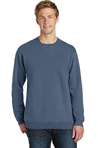 Port & Company Essential Pigment-Dyed Crewneck Sweatshirt PC098 Denim Blue XL