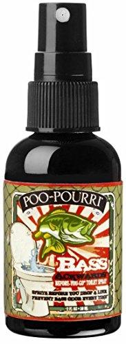(Poo-Pourri Bass Ackwards Mountain Air Pine Scent 2 oz. Before-You-Go Toilet Spray Bottle)