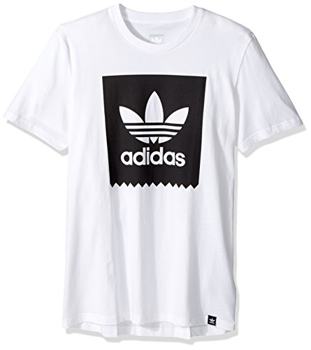 adidas Originals Men's Blackbird Logo Tee, White/Black, Small