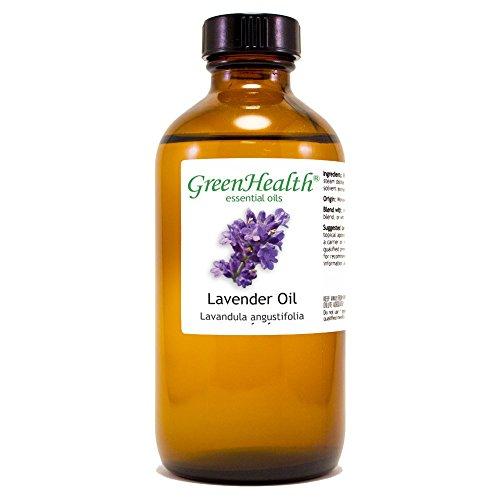 France Lime Basil - GreenHealth Lavender - 8 fl oz (237 ml) Glass Bottle w/Cap - 100% Pure Essential Oil