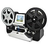 "8mm & Super 8 Reels to Digital MovieMaker Film Sanner,Pro Film Digitizer Machine with 2.4"" LCD, Black (Film 2 Digital Movie Maker&8mm Film Scanner) with 32 GB SD Card"