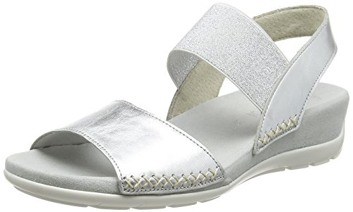 discount best wholesale Gabor Women's Fashion Open-Toe Sandals Silver (Silber 61) wholesale price online cheap sale outlet locations B5SGAx
