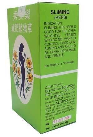 Slimming German Herb Lose Weight Burn Diet Slim Fit Fast Detox, Sliming Tea 50 Bags.