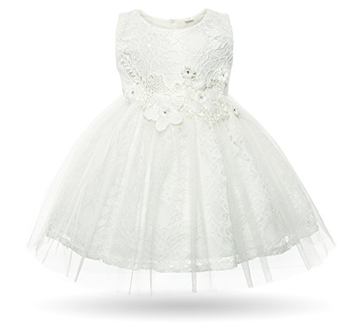 216e9caf8ac CIELARKO Baby Girl Dress Infant Flower Lace Wedding Party Dresses for 0-24  Months (