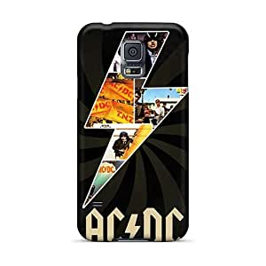 Excellent Cell-phone Hard Covers For Samsung Galaxy S5 (SZo13792MsHD) Unique Design Colorful Ac Dc Band Pattern