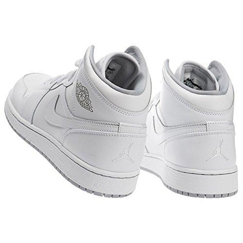 Air Jordan Pojkar Luft 1 Mitten Stora Barn Stil Vit