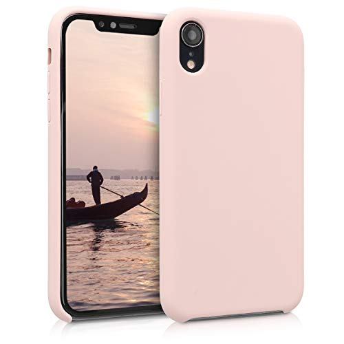 kwmobile TPU Silicone Case Compatible with Apple iPhone XR - Soft Flexible Rubber Protective Cover - Dusty Pink