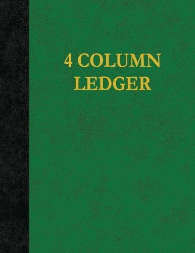 4 Column Ledger: 100 Pages
