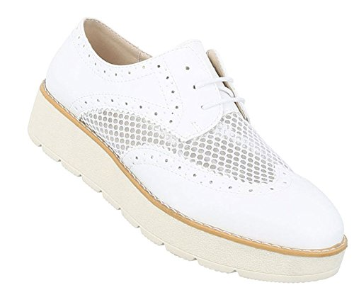Damen Halbschuhe Schuhe Schnürer Elegant Silber 39 UmOm4LGti