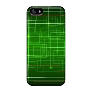 Premium Tpu Green Lines Cover Skin For Iphone 5/5s by lolosakes
