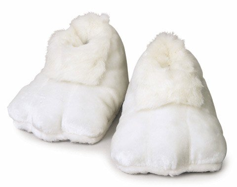 Price comparison product image Rubie's Plush Adult Bunny Shoes, White, One Size