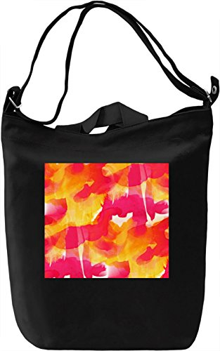 Red Watercolor Pattern Borsa Giornaliera Canvas Canvas Day Bag| 100% Premium Cotton Canvas| DTG Printing|