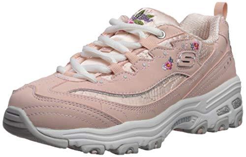 Kid Bright D'lites Medium Big Blossoms Skechers Girls' SneakerLight Us Kids Pink5 b6yfY7g