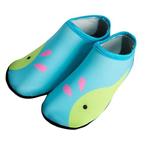 IGEMY children Swimm Diving Socks Outdoor Water Sport Scratche Non-Slip Shoes Seaside Green fxup3
