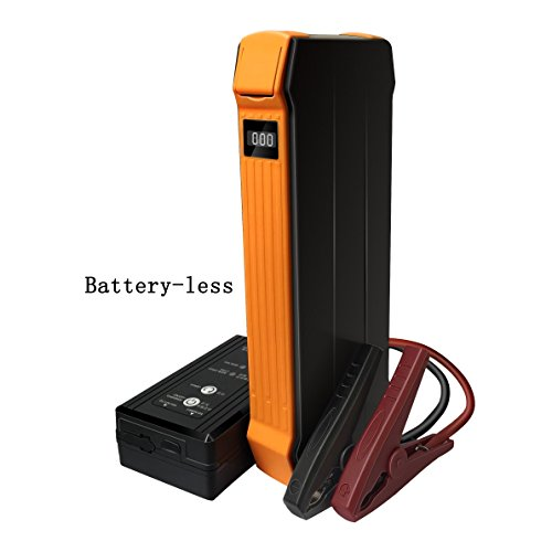 less Portable Car Jump Starter (Up to 5.0L Gas/3.0L Diesel Engine), 700A Peak/600A Instant,Safe Booster Pack, Auto Emergency Start Power, Super Capacity Technology, Orange ()