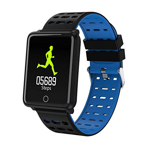 Orcbee  _Smart Watch Heart Rate Monitor Bracelet Wristband for iOS Android (Blue)