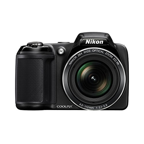 Nikon Coolpix L340 20.2MP Digital Camera with 28x Optical Zoom (Harness Kids Chest For Gopro)