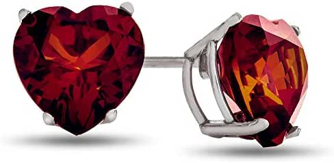 6x6mm Heart Shaped Post-With-Friction-Back Stud Earrings