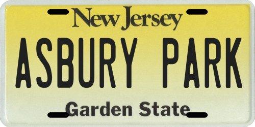 Asbury Park New Jersey Aluminum License Plate