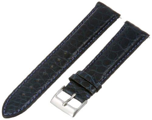 Hadley Roma 20 MM Matte Navy Blue Alligator Leather Strap 20ABR06M