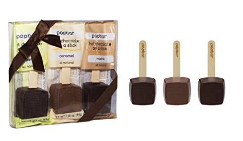 Hot Chocolate on a Stick - 3 Pack Holiday Gift Box - Caramel, Mocha, Peppermint