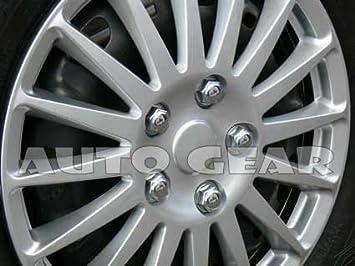 "TOYOTA AYGO Car Wheel Trims Hub Caps Plastic Covers Lighting 15/"" Black /& Blue"
