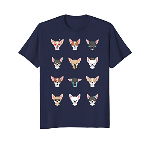 Mens Chihuahua Emoji T-Shirt 2XL - Sunglasses It Emoji Deal With