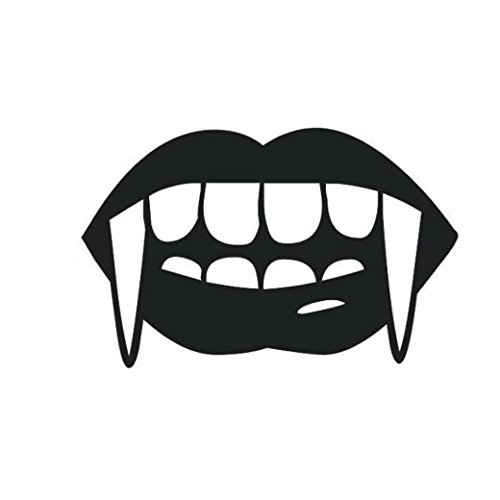 Wall Sticker Zombie Teeth Halloween Window Decor Mural for Costume Party Decoration by Keepfit ()