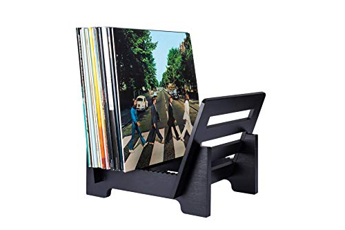 ZonsWorld Vinyl Record Storage Holder Bamboo Display Stand Environmentally Eco Friendly Modern Trendy & Stylish Record holder Quality Design to Hold 50 7